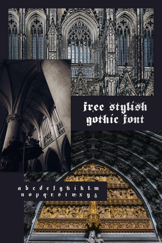 Free Stylish Gothic Font for pinterest.