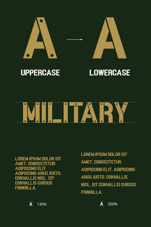 Army Free Stencil Font