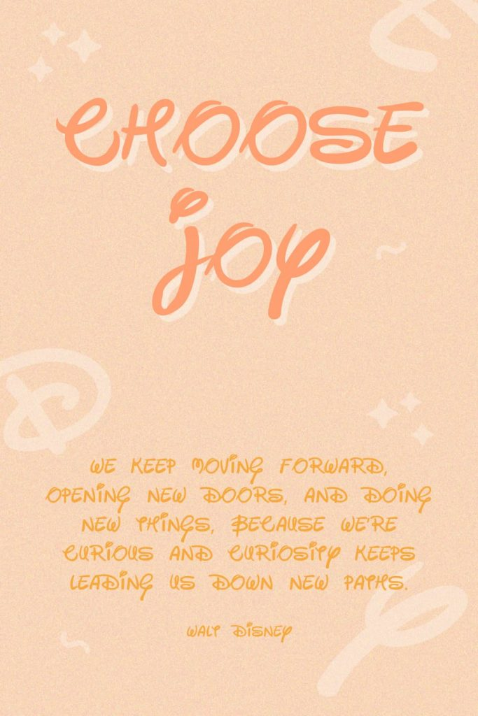 Example text with disney font.