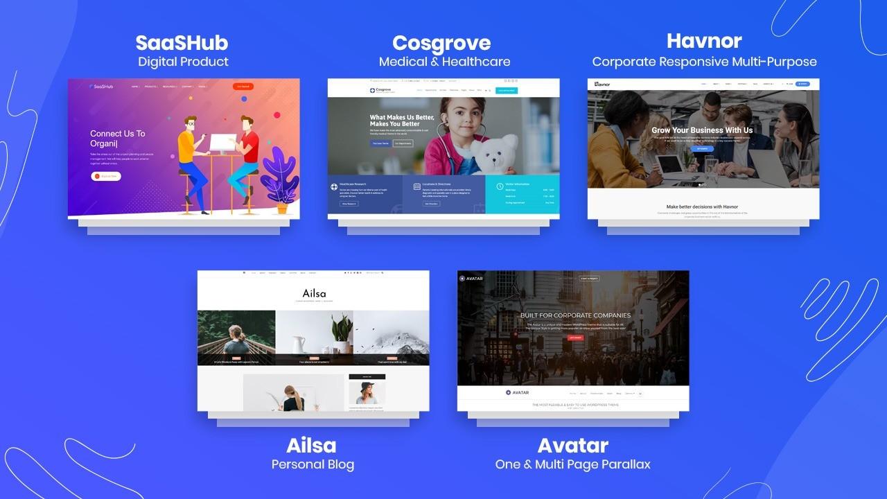 Lifetime access to 45+ Premium WordPress Themes + 1500 Graphic Templates.