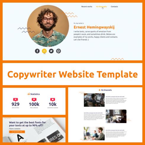 Free Copywriter Website Template