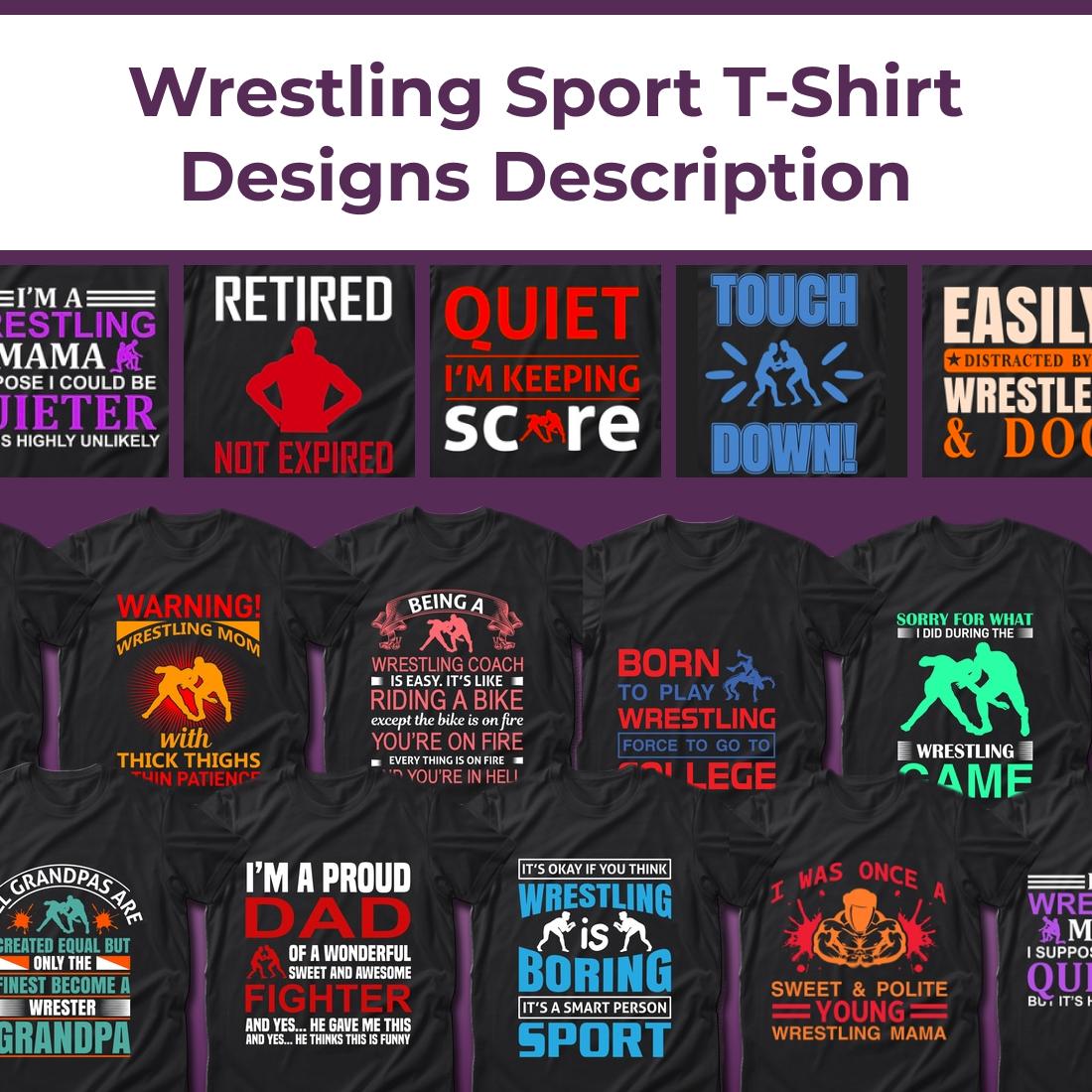 1 Best Selling 30 Wrestling Sport T Shirt Designs Bundle
