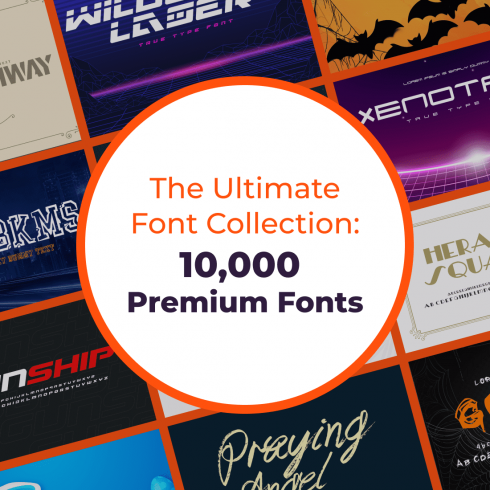 The Ultimate Font Collection is perfect for Entreprenuers, Designers, Business Owners, Content Creators.