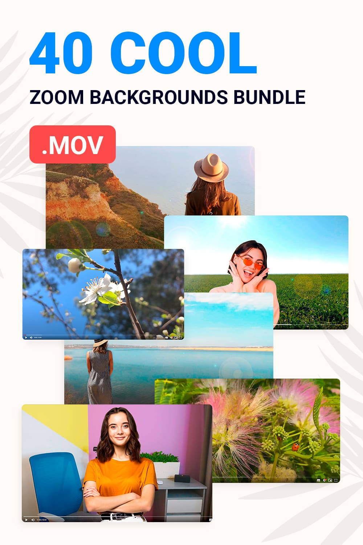 40 Cool Zoom Backgrounds Bundle for pinterest.