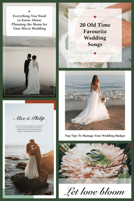 Wedding Instagram Template - MasterBundles - Pinterest Collage Image.