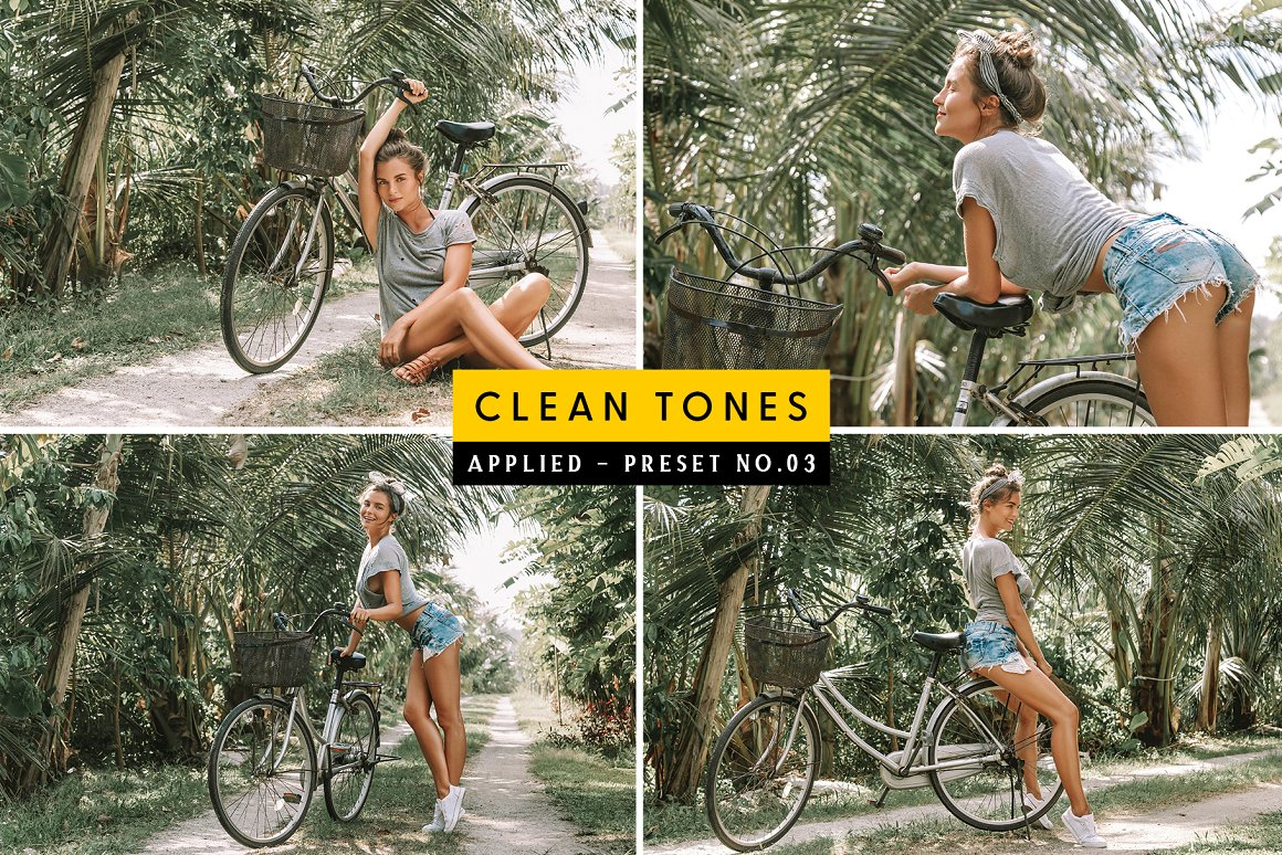 A rainforest, a bicycle and a beautiful girl - all the ingredients for a good shot are there.