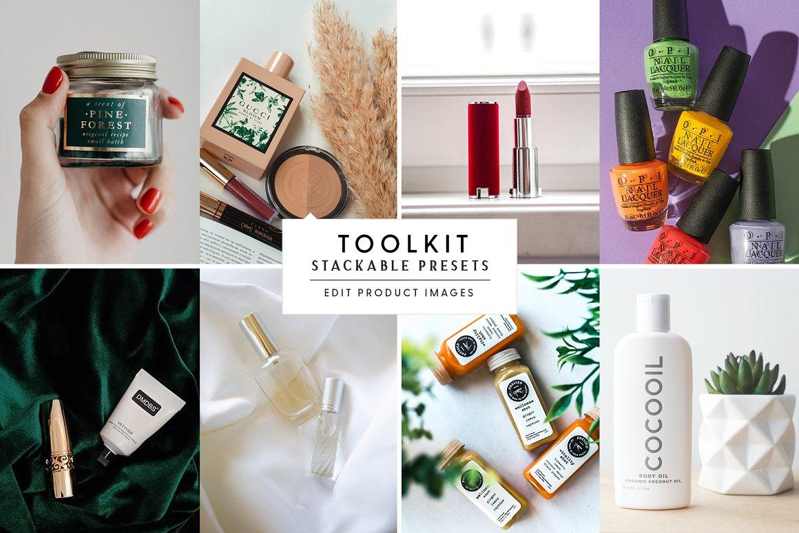 Decorative cosmetics in a stylish design.