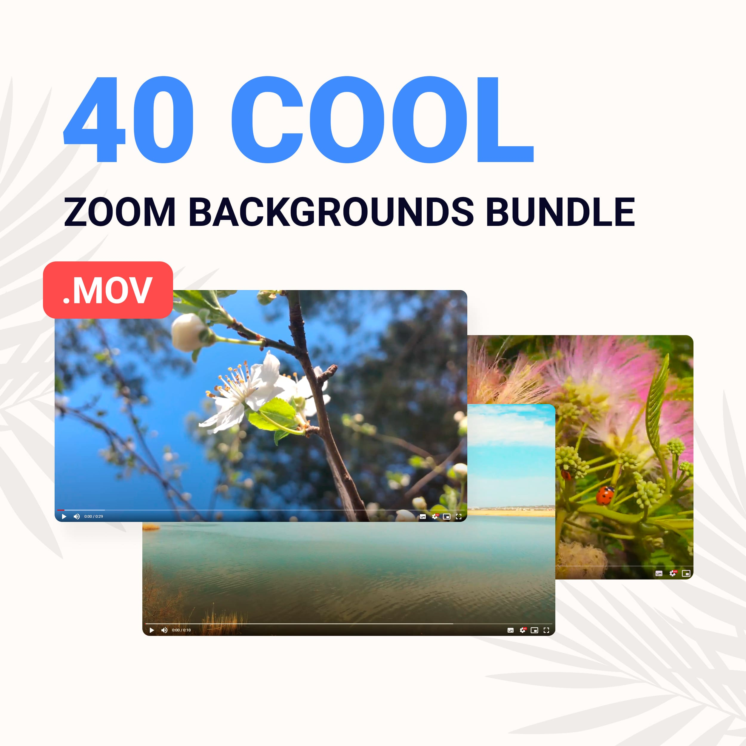 40 Cool Zoom Backgrounds Bundle previews.