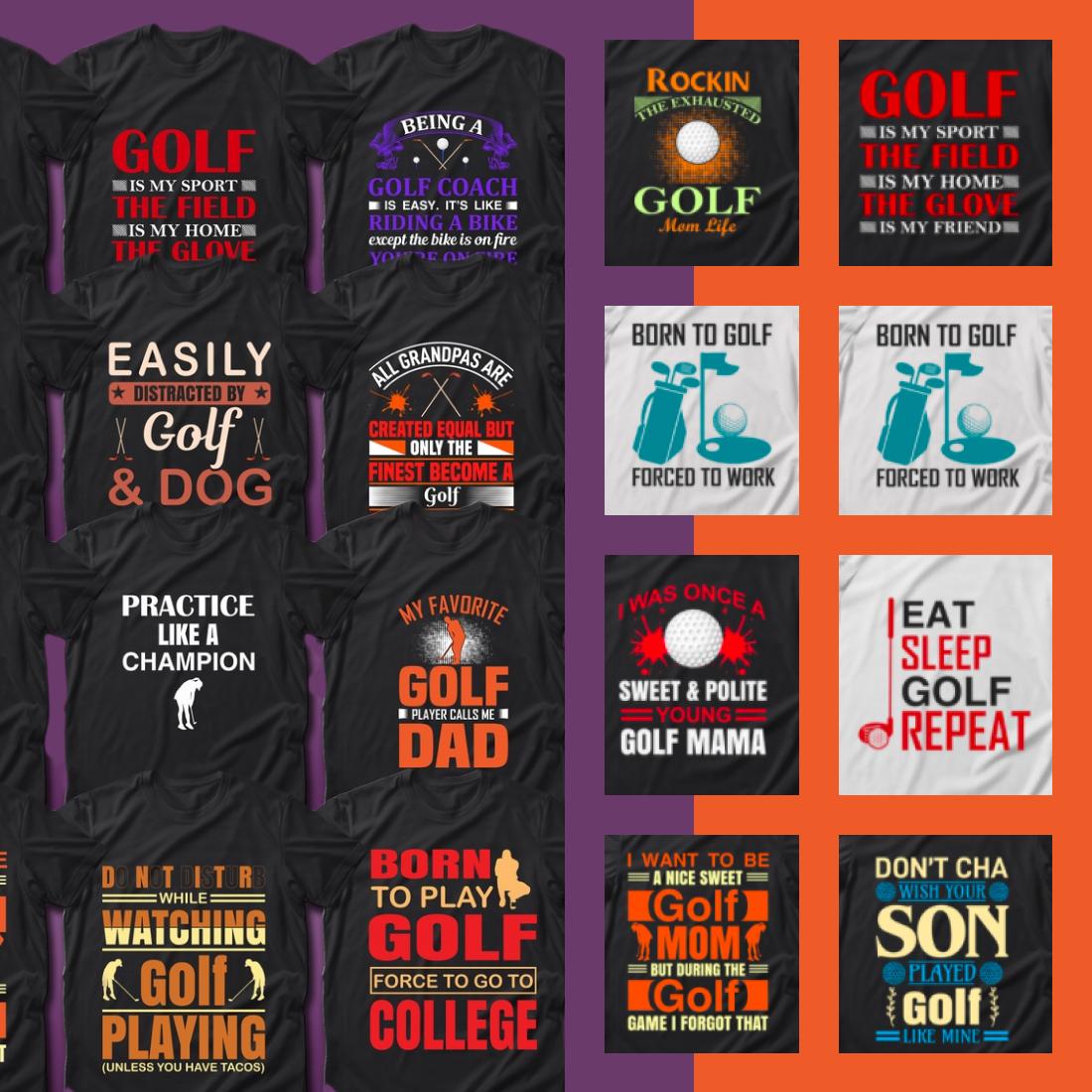 2 40 Golf Quotes T Shirt Designs Bundle