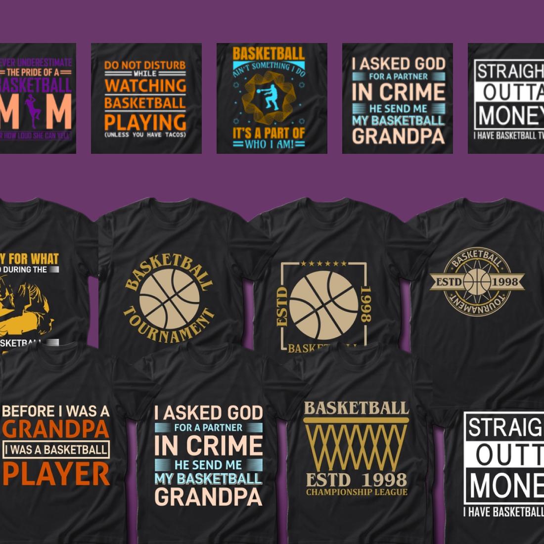 2 Best Selling 40 Basketball Sport T Shirt Designs Bundle