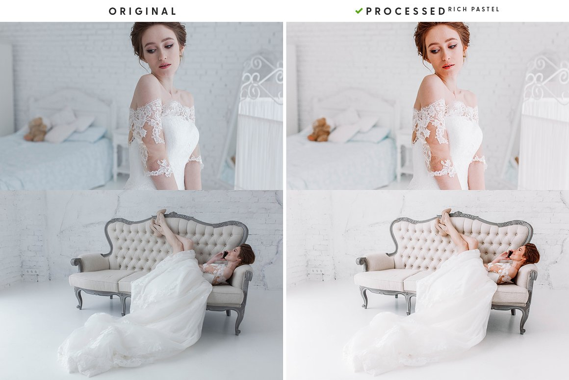 Preparatory stages of the bride for the wedding.