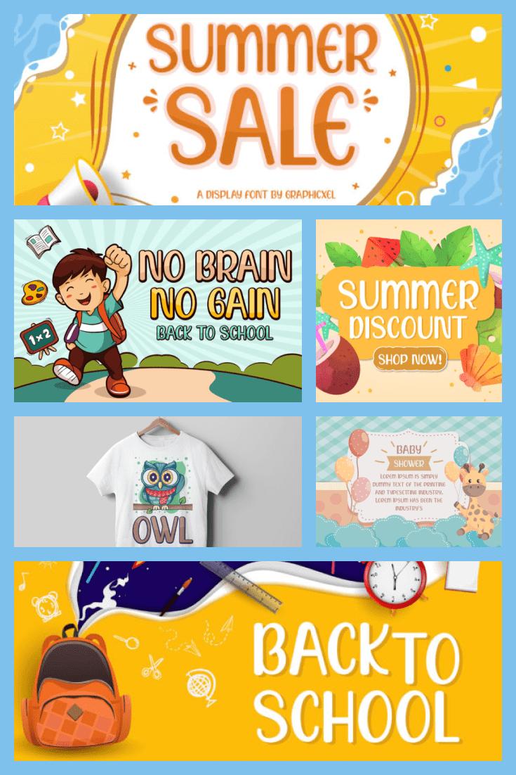 Summer Sale Caribbean Font - MasterBundles - Pinterest Collage Image.