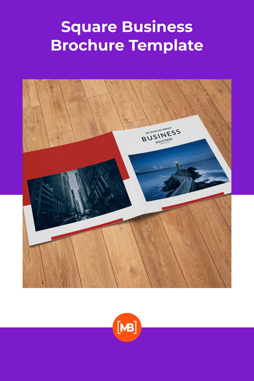 Square Business Brochure Template - MasterBundles - Pinterest Collage Image.