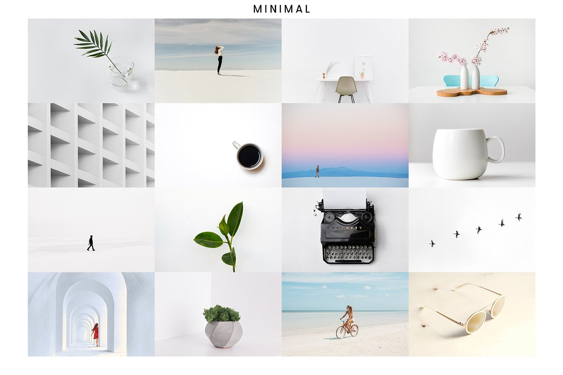 Stylish photo set in a minimalist style with a hint of the Scandinavian countries.