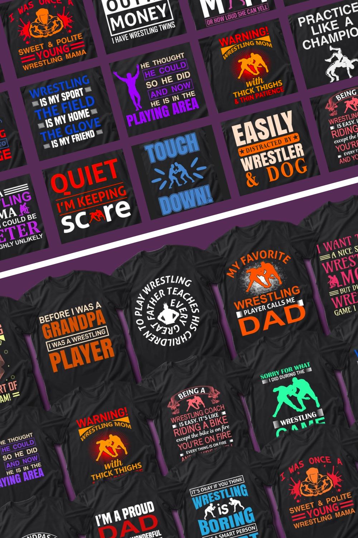 50 Editable Fishing T-Shirt Designs Bundle for pinterest.