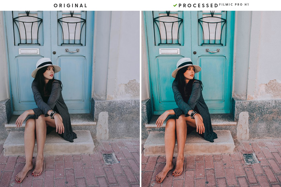 Girl on the background of a vintage door.