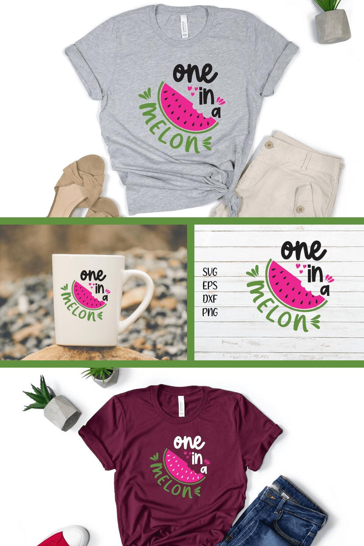 Summer Pink Melon SVG - MasterBundles - Pinterest Collage Image.