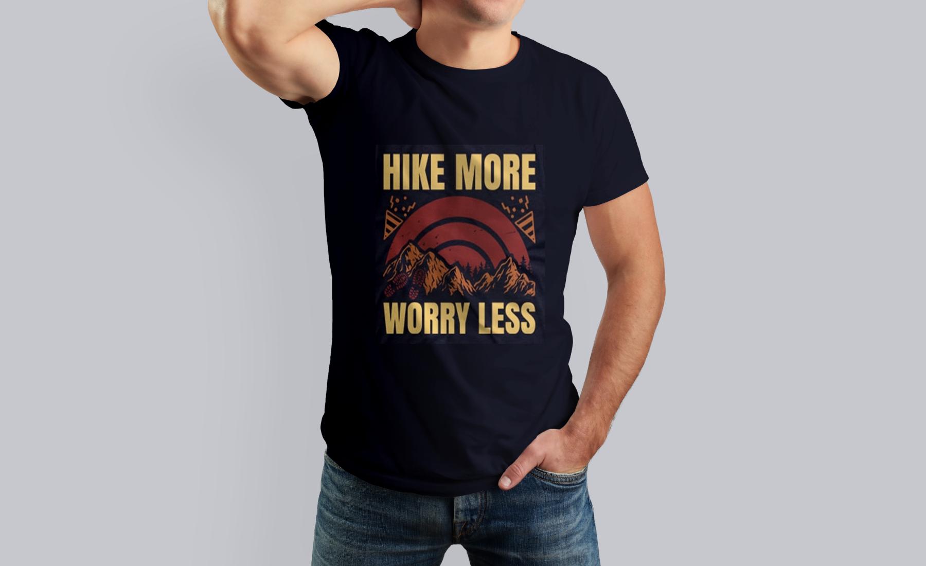 Mockup 40 Editable Hiking T shirt Bundle Designs