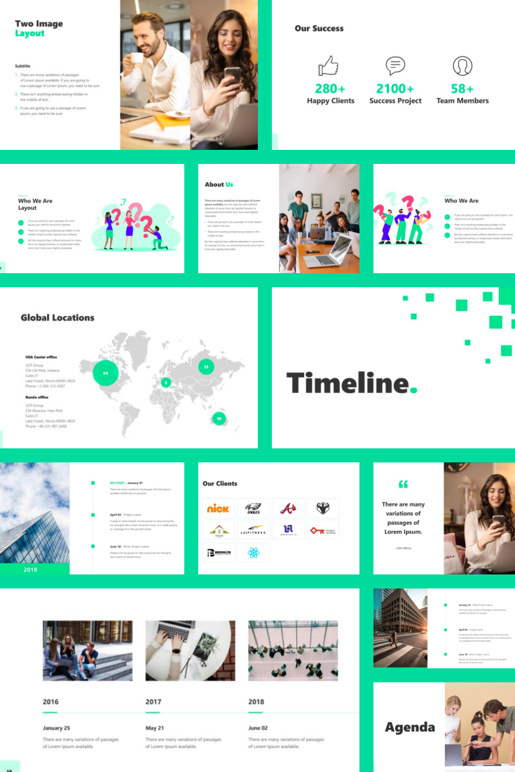 Business 2021 Animated Presentation - MasterBundles - Pinterest Collage Image.