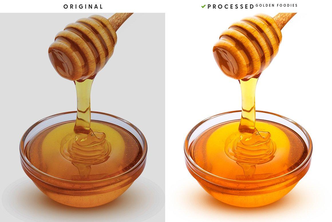 Stretching spring honey.