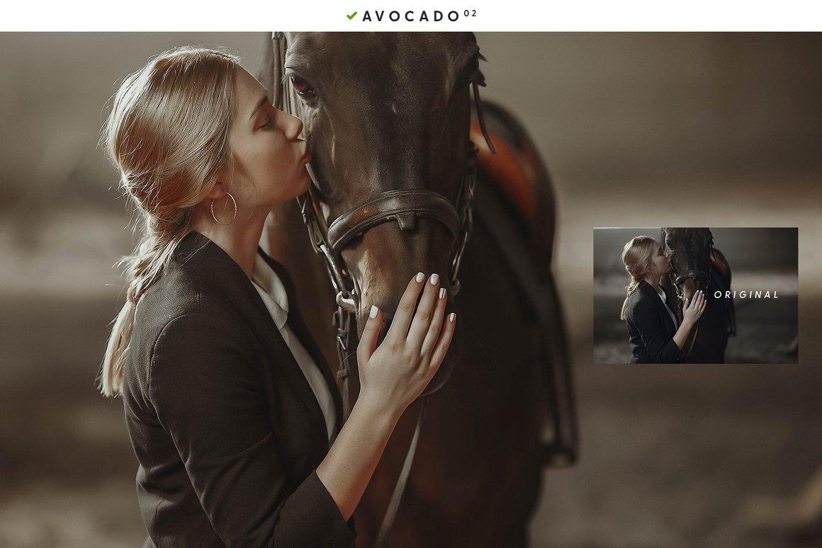 Photoset with a dark horse of a beautiful girl.