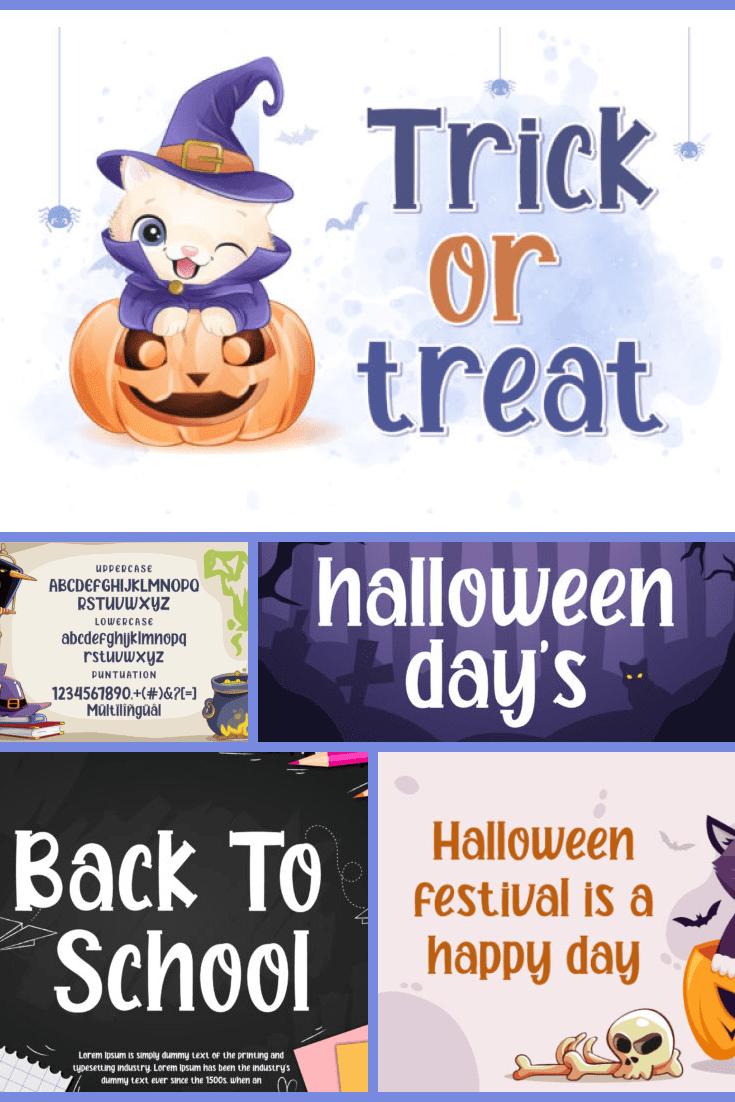 Halloween Day's Batman Font - MasterBundles - Pinterest Collage Image.
