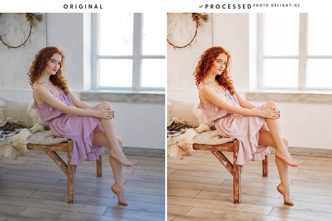 Photoshoot of a girl in a bright room and in a gentle way.