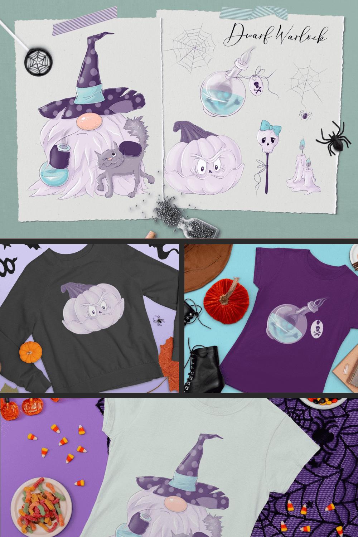 Nordic Gnomes Halloween Сharacters - MasterBundles - Pinterest Collage Image.