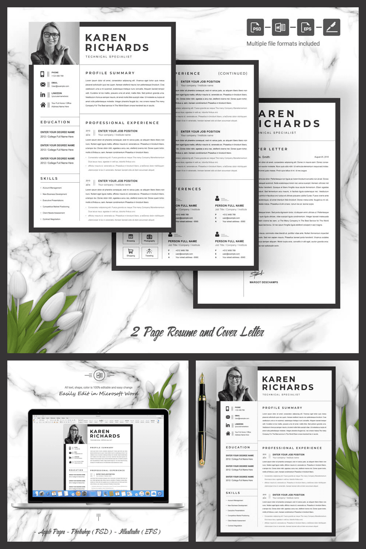 Curriculum Vitae [CV] - MasterBundles - Pinterest Collage Image.