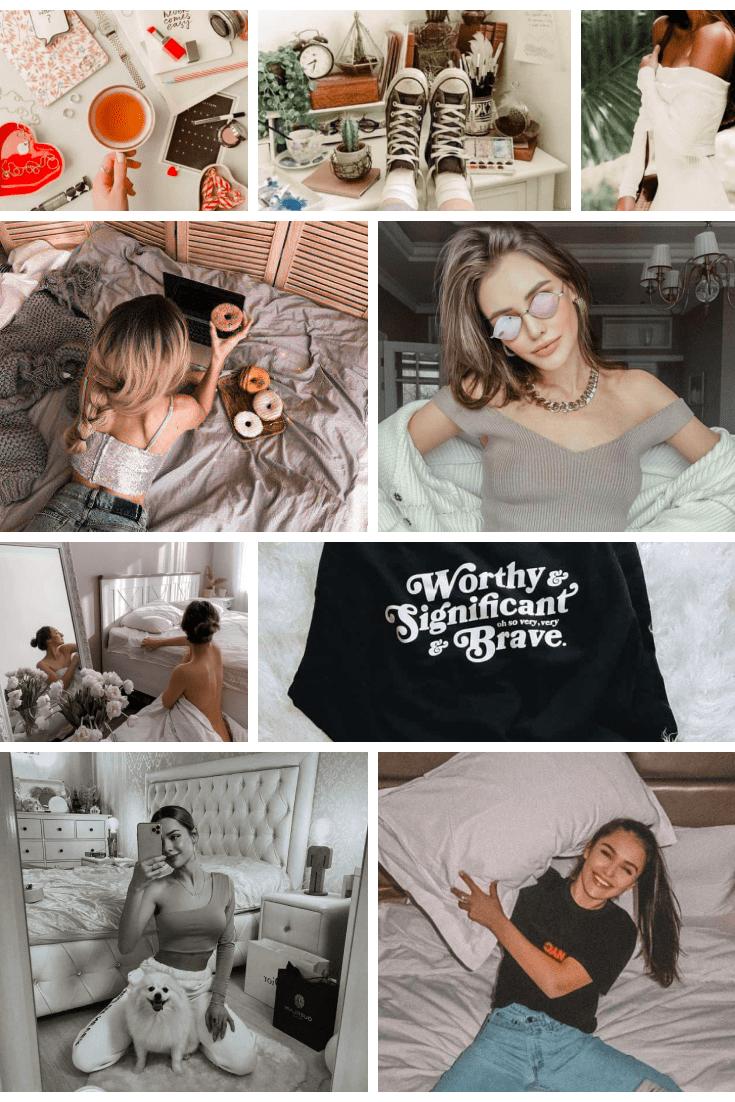 #StayAtHome 10 Lightroom Presets for Instagram - MasterBundles - Pinterest Collage Image.