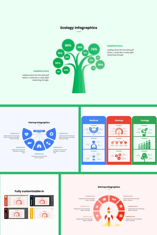 The Biggest Infographic Bundle - MasterBundles - Pinterest Collage Image.