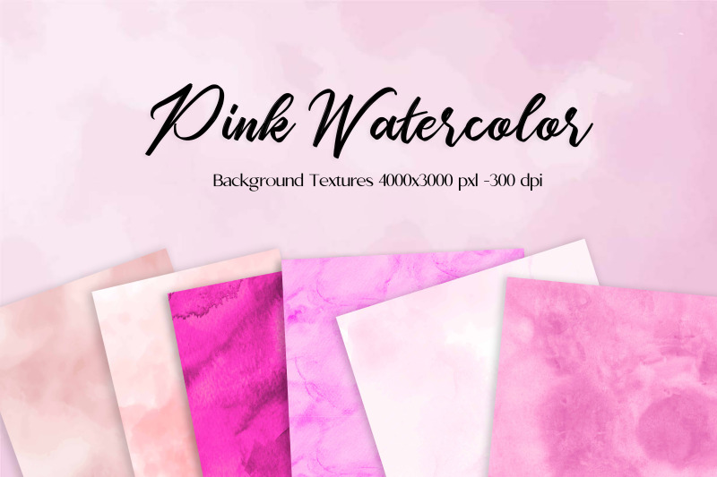 Hand-painted, watercolor backgrounds in bright modern colors. Perfect for print and web projects such as wedding invitations, branding, packaging design, greeting cards, and many other uses.
