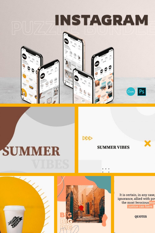 Instagram Bundle - PS & Canva - MasterBundles - Pinterest Collage Image.