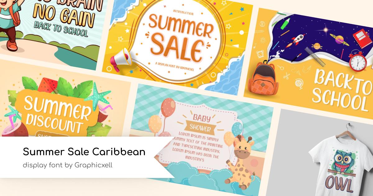 Summer Sale Caribbean Font.