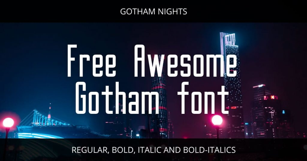 Main Facebook Preview for Free Awesome gotham font.