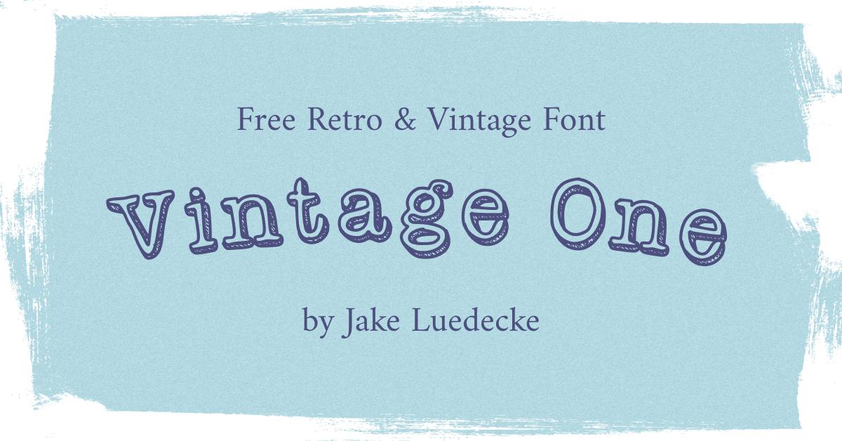 Free Retro vintage Font Facebook