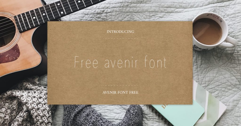 Free avenir font Preview for Facebook.