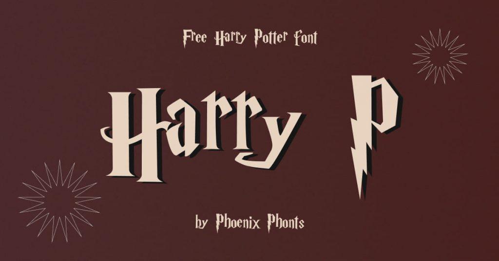 Free harry potter font image for Facebook.