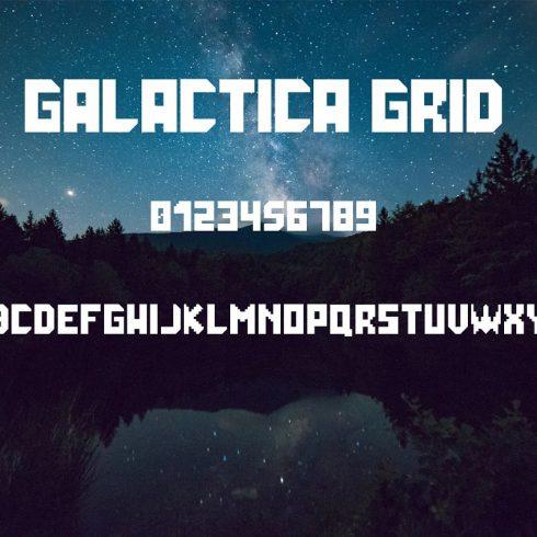 Grid Font: Galactica Futuristic Gaming Font main cover.