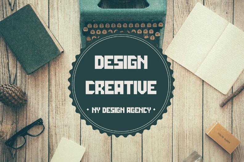 Vintage font ddesign.