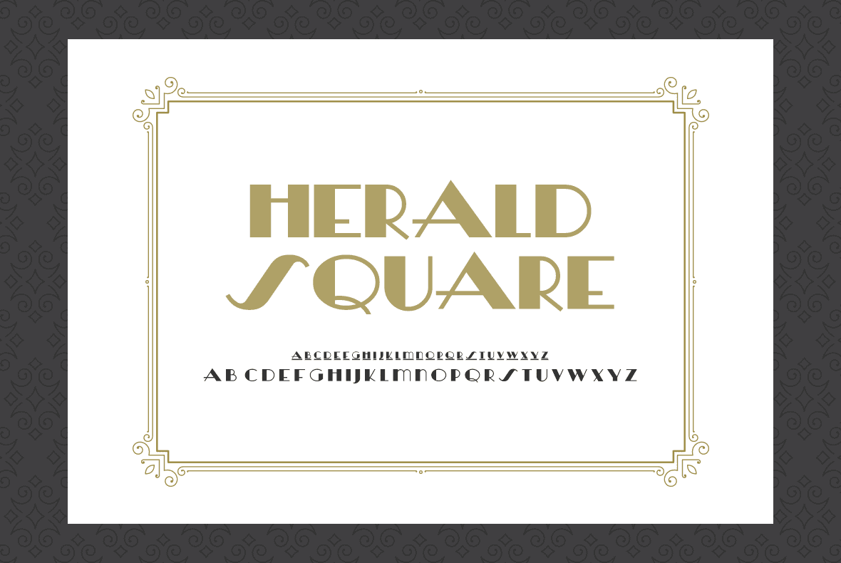 Font for luxury hotels.