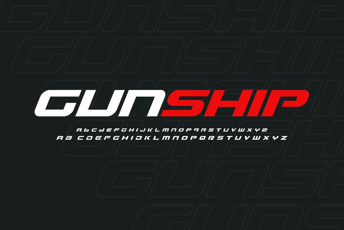 Gaming font.