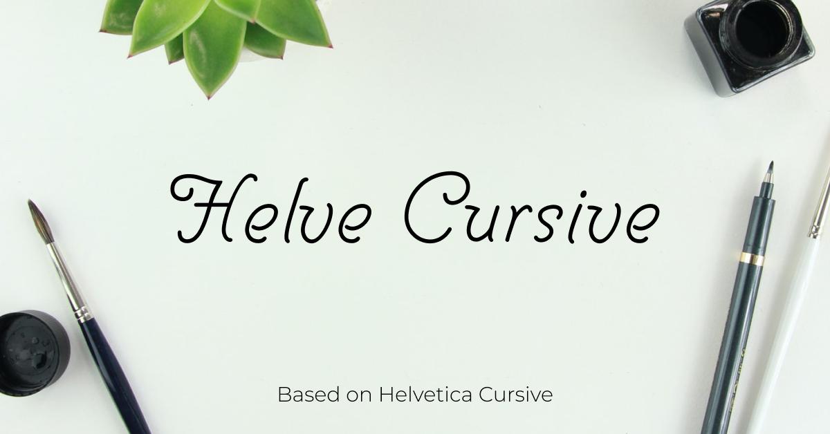 Stunning free cursive font Facebook