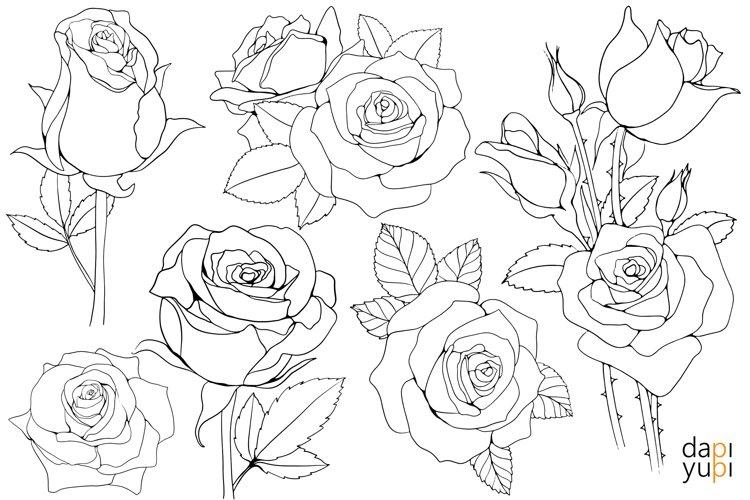 Roses elements.