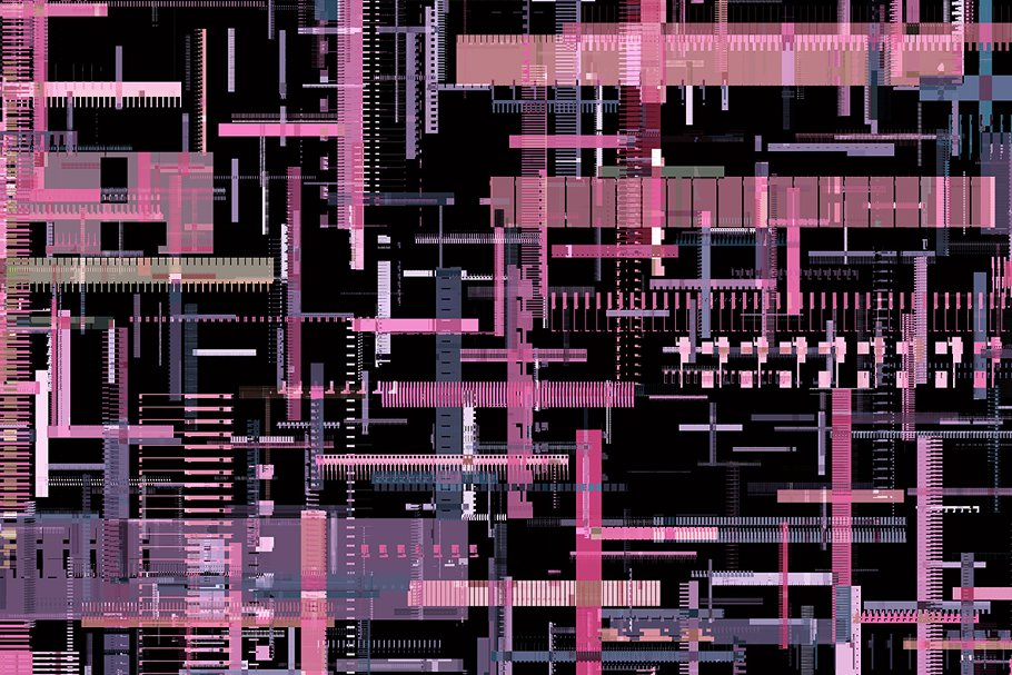 Glitch texture with purple in most.