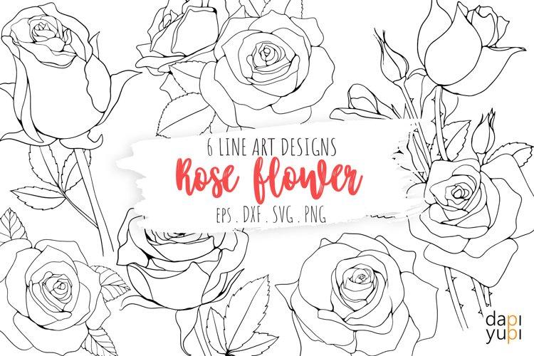 Plenty of hand drawn rose.