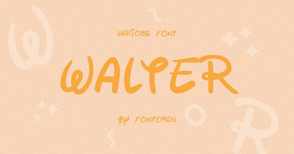 Free disney font preview for social media.