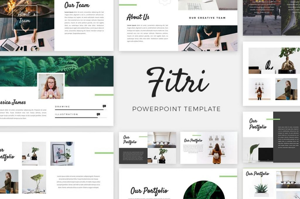 Cover Fitri - Creative PowerPoint Template.