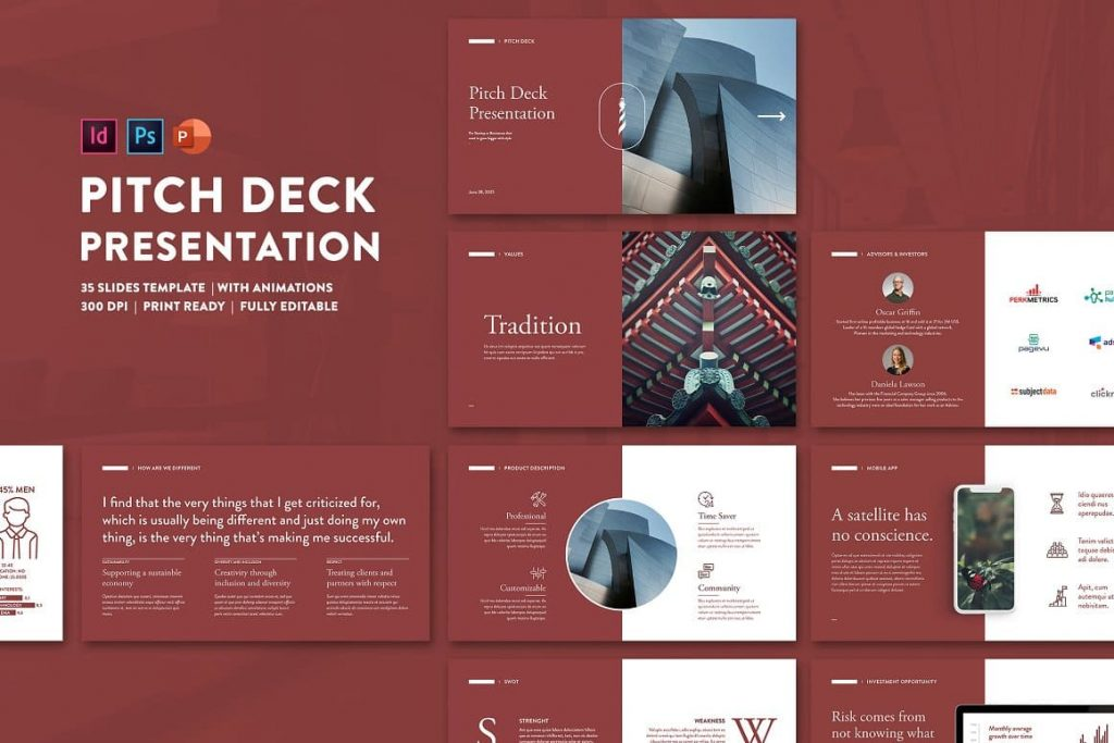 Pitch Deck Powerpoint Presentation with animation.