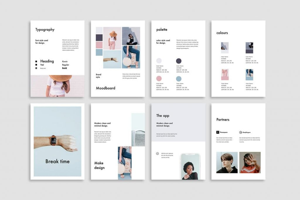 Powerpoint Vertical Template slides preview.